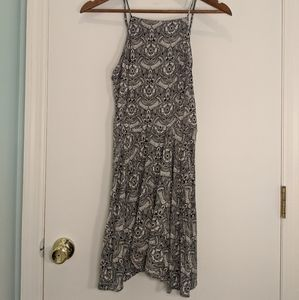 Abercrombie & Fitch High Neck Floral Skater Dress